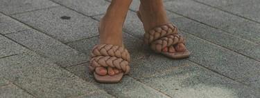 Las sandalias trenzadas de Uterqüe que más triunfan en el street style todavía están disponibles