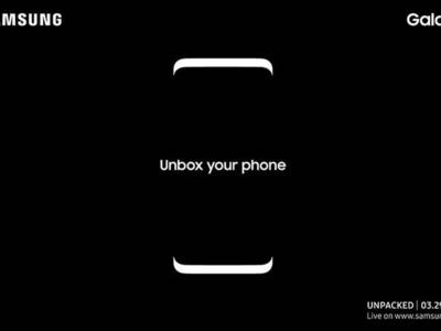 Es oficial, el Samsung Galaxy S8 se presentará el 29 de marzo