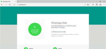 WhatsApp Web ya es oficialmente compatible con Microsoft Edge