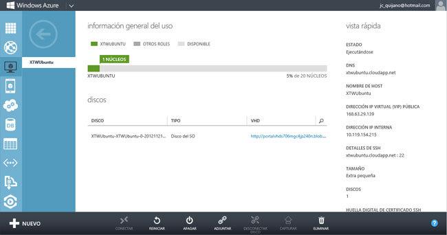 Hablando de Azure. VM Ubuntu