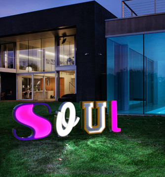Letter Neon Graphic Lamp Outdoor