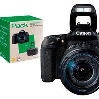 En Fnac tienes un completo pack para estrenar una Canon EOS 77D con objetivo 18-135mm, bolsa y tarjeta de memoria por 1.139,90 euros