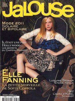 Elle Fanning, portada de Jalousse diciembre