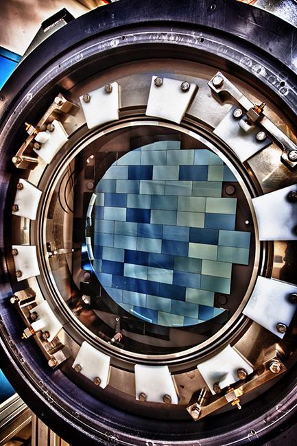 Vista de los sensores digitales de La Cámara de la Energía Oscura