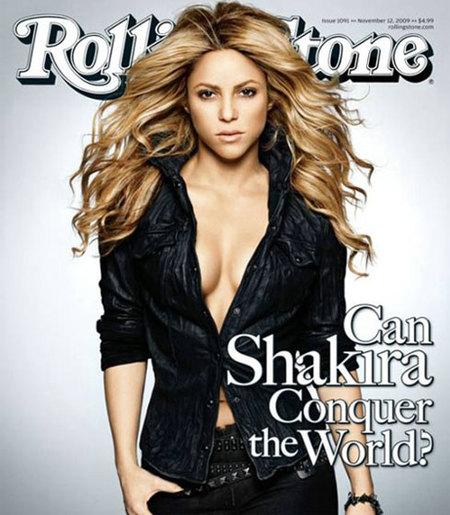 Shakira sexy en la portada de Rolling Stone