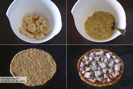 Pizza de Platano. Pasos