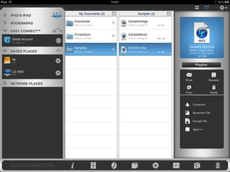 Cloud Connect Pro, vista por carpetas