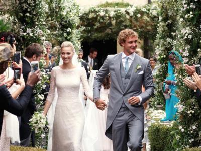 ¡Beatrice de Borromeo nos enseña su segundo vestido de novia! Giorgio Armani firma este aburrido vestido