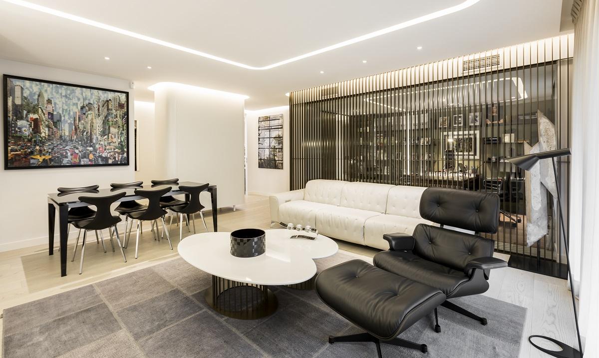 Puertas abiertas un apartamento contempor neo y luminoso - Salones con alfombras ...