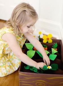 Proyecto DIY: haz un huerto de fieltro para tu peque