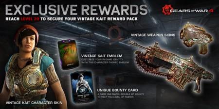 Recompensas Beta Gears Of War 4