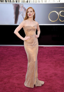 Analizamos los maquillajes de Jessica Chastain, cinco looks de alfombra roja