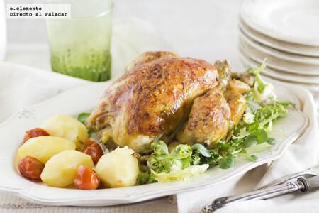 Pollo asado a las dos cocciones: receta para una carne jugosísima