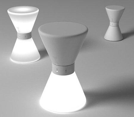 Una lámpara inspirada en un reloj de arena