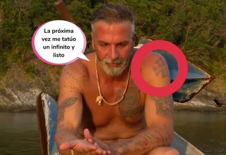 Piden la expulsión disciplinaria de Carlos Alba de 'Supervivientes' por estos dos supuestos tatuajes nazis