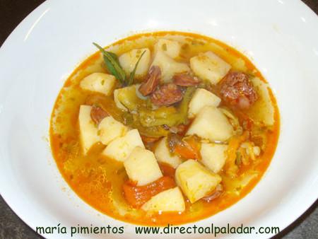 Receta de patatas riojanas