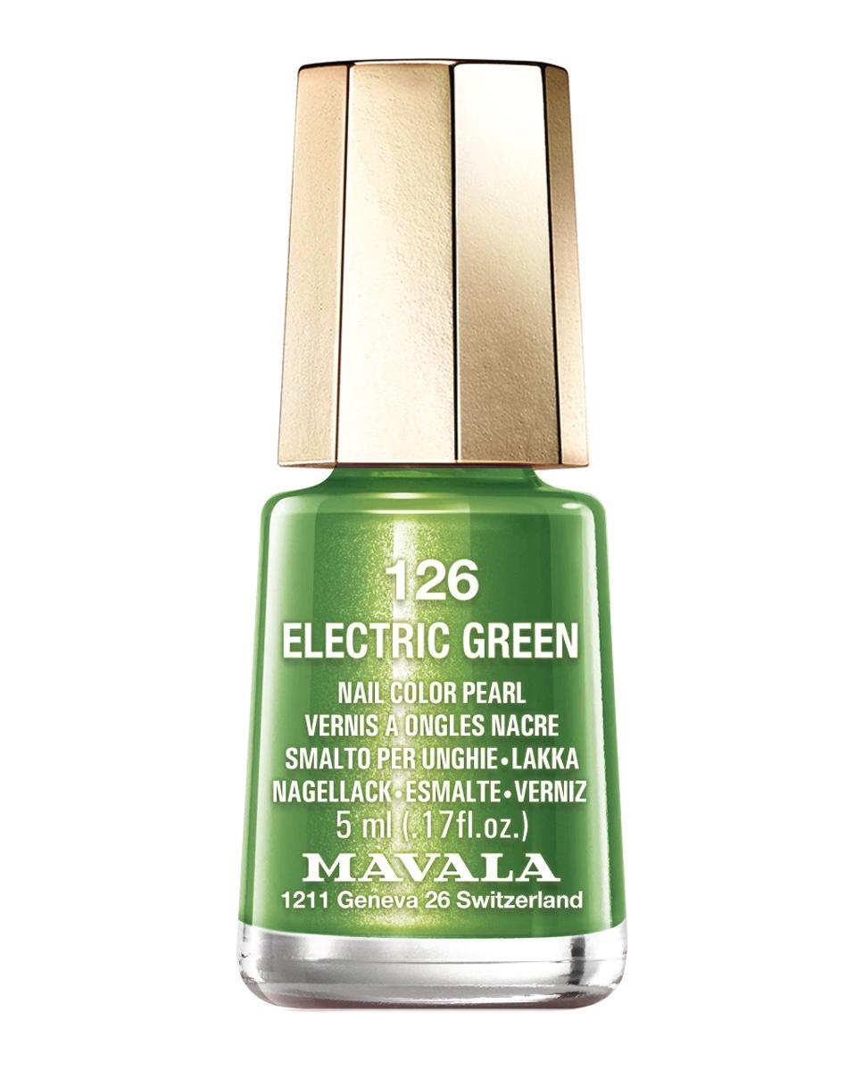 Esmalte de uñas Electric Green 126 de Mavala Color.