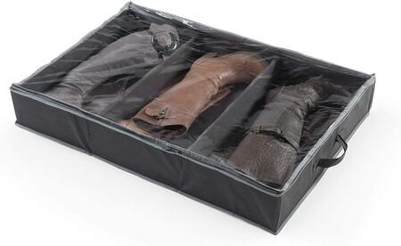 Práctica caja grande para almacenaje de zapatos solución óptima para guardar los zapatos y mantenerlos organizados y libres de polvo