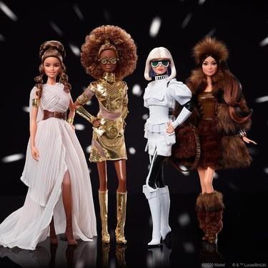 Las cuatro nuevas Barbies de Star Wars nos tienen enamoradas y queremos la de Chewbacca en nuestra colección