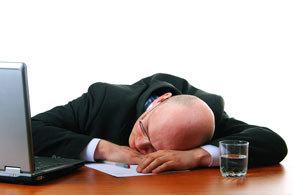 trabajador durmiendo