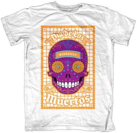 Halloween 2010: camiseta del Día de los Muertos personalizada con tu nombre