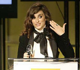Penélope Cruz mejor actriz en los Hollywood Awards