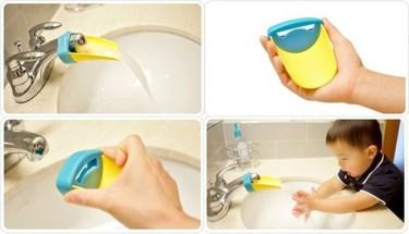 Aqueduck, adaptador de grifo para el lavabo de los peques