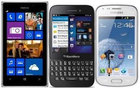 Todos los precios de Blackberry Q5, Nokia Lumia 925 y Samsung Galaxy Trend con tarifas Vodafone