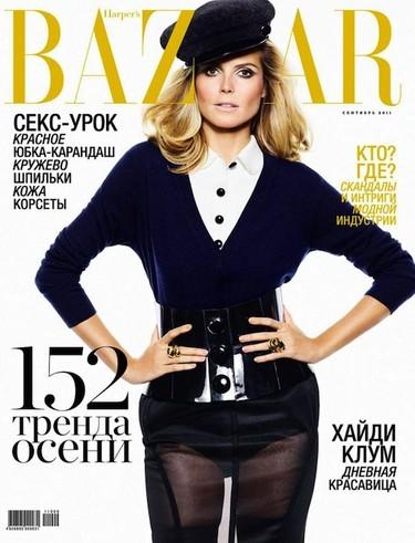 ¡A sus órdenes Heidi! La alemana, poderosa y bella para Harper´s Bazaar Rusia