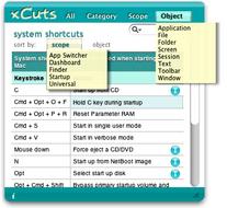 xCuts: El widget de los atajos de teclado
