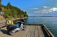 América en moto. Isla Galiano.