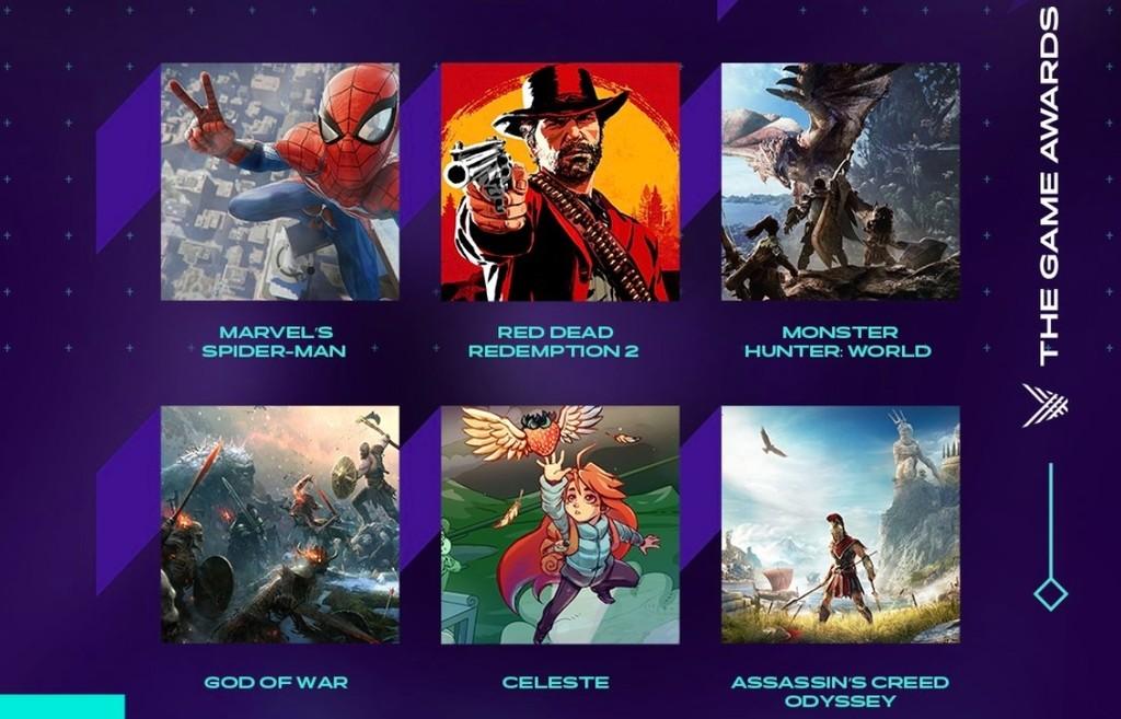 The Game Awards 2018 anuncia su lista de nominados. ¿Cuál será el GOTY 2018?