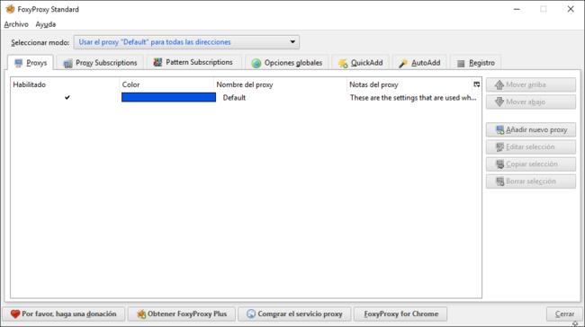 Foxy Proxy para Firefox