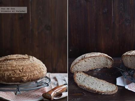 Pan de pipas y masa madre, receta para enamorarte de hacer pan casero