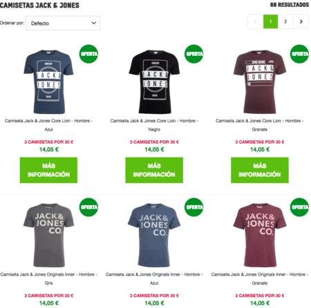 Compra múltiple en Zavvi: 3 camisetas Jack&Jones por 30 euros