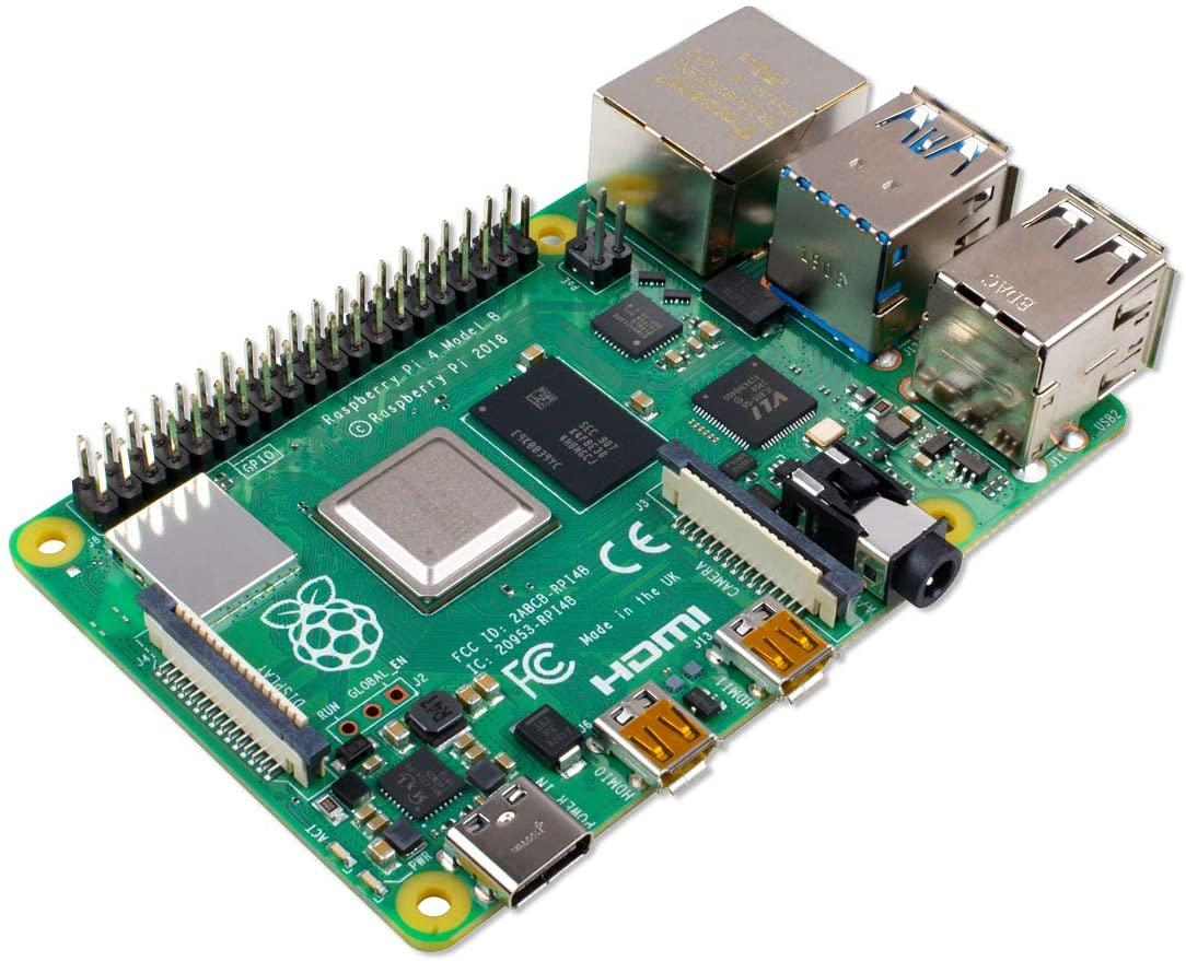 Raspberry Pi 4 Modelo B 2019 Quad Core 64 bit WiFi Bluetooth (4 GB)