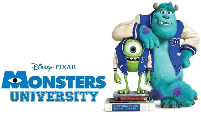 Imagen con el cartel de 'Monstruos University'