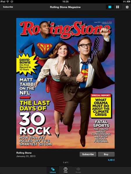 Rolling Stone para iPad