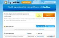 Tiny Petition crea y difunde peticiones online