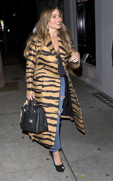 Sofía Vergara se apunta a la moda de lucir un abrigo salvaje (como el de las instagrammers)