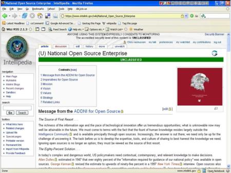 Screenshot Intellipedia