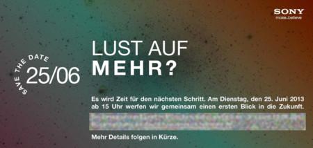 Sony Mobile anuncia un evento en Alemania el 25 de junio