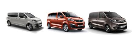 Citroën Spacetourer, Peugeot Traveller y Toyota Proace:  mismo vehículo con distinta cara