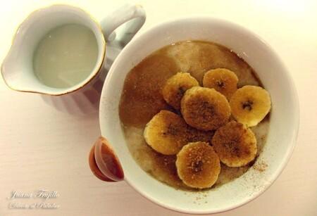 Gachas de avena o porridge con frutas
