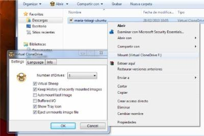 Virtual CloneDrive monta tus imágenes ISO en Windows 7