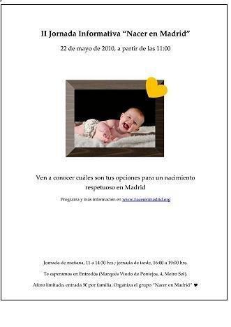 """Nacer en Madrid"", jornada de información sobre parto respetado"