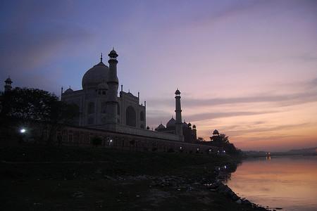 Taj Mahal, puesta de sol