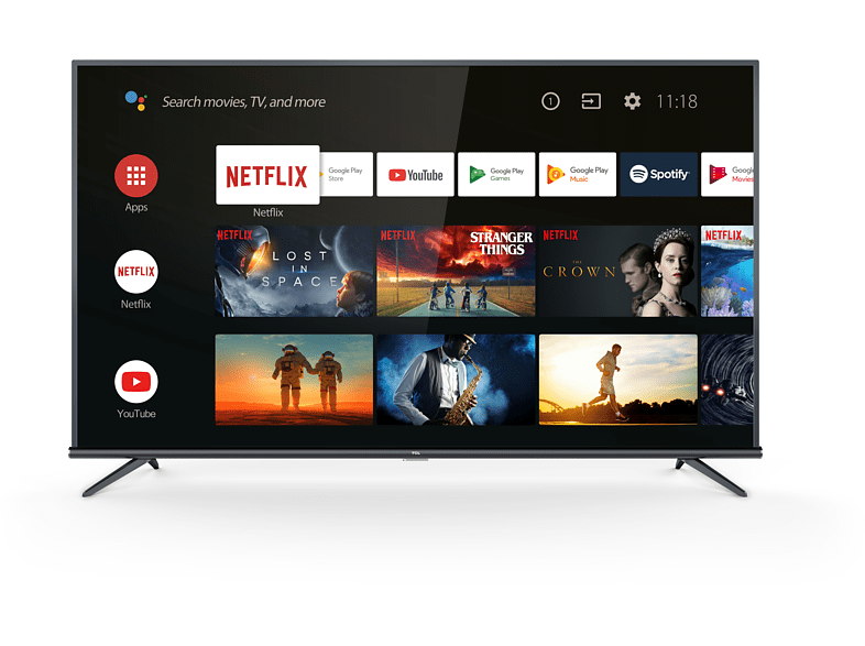 "TV LED 43"" - TCL 43EP660, UHD 4K, HDR PRO, Panel 10 bits, Dolby Audio, Android TV"