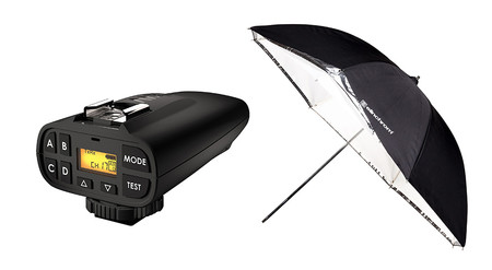 Novedades en iluminación: Paraguas Shallow de Elinchrom y kit especial del PocketWizard Plus IV