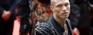 Jeremy Meeks viste un agresivo look de aires punk en la apertura del festival de cine de Cannes